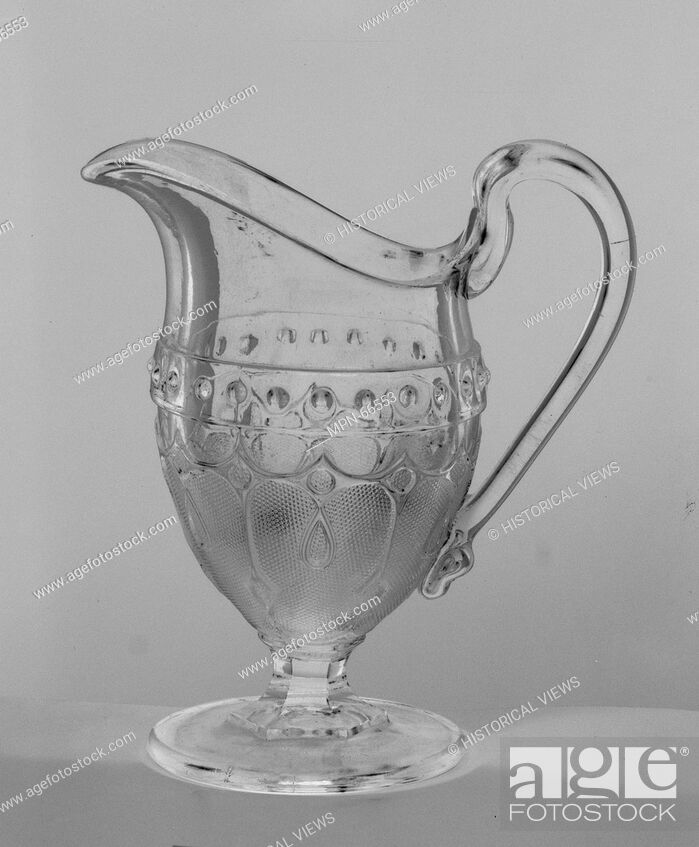 Stock Photo: Creamer. Designer: Designed by W. O. Davis; Manufacturer: Manufactured by Portland Glass Company (1864-73); Date: after 1869; Geography: Made in Portland, Maine.