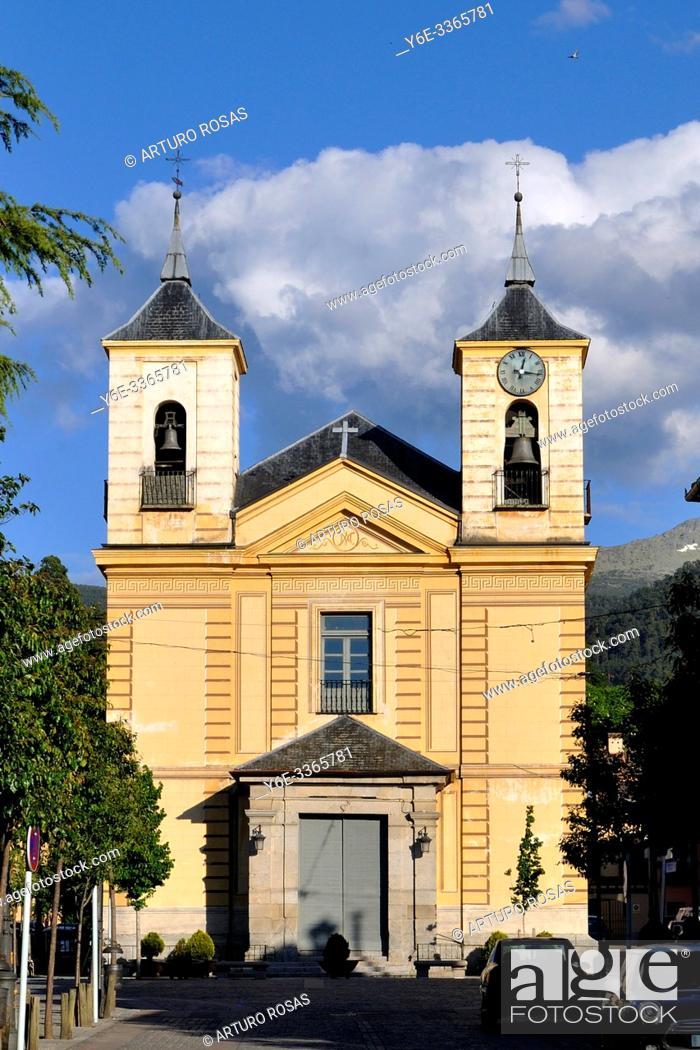 Stock Photo: Church of Nuestra Señora de los Dolores (Our Lady of Sorrows) in Real Sitio de San Ildefonso, Segovia.