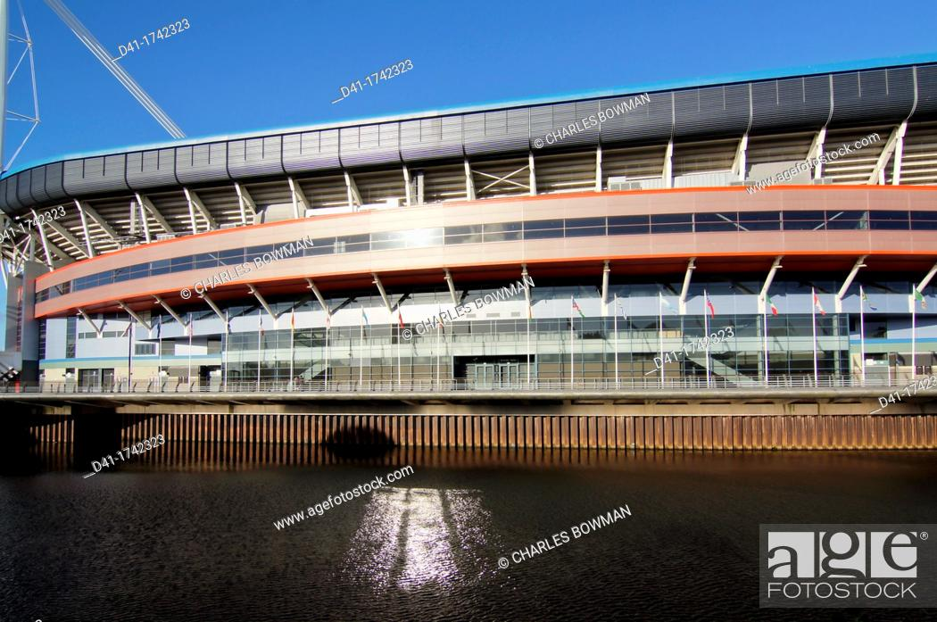 Stock Photo: UK, Wales, Cardiff, Millenium Stadium.