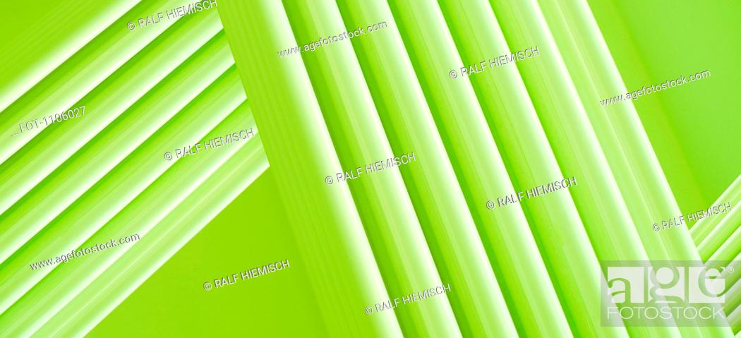 Stock Photo: Full frame abstract of intersecting three dimensional green lines.