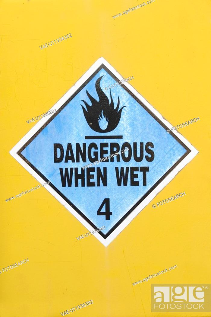 Stock Photo: text, indication, sticker, advice, warning, caution.