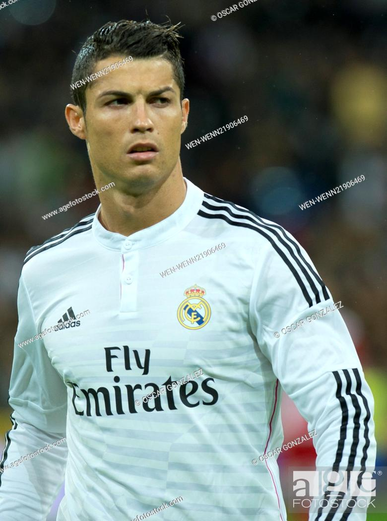 Stock Photo: La Liga match between Real Madrid and Rayo Vallecano at the Santiago Bernabeu stadium Featuring: Christiano Ronaldo Where: Madrid.