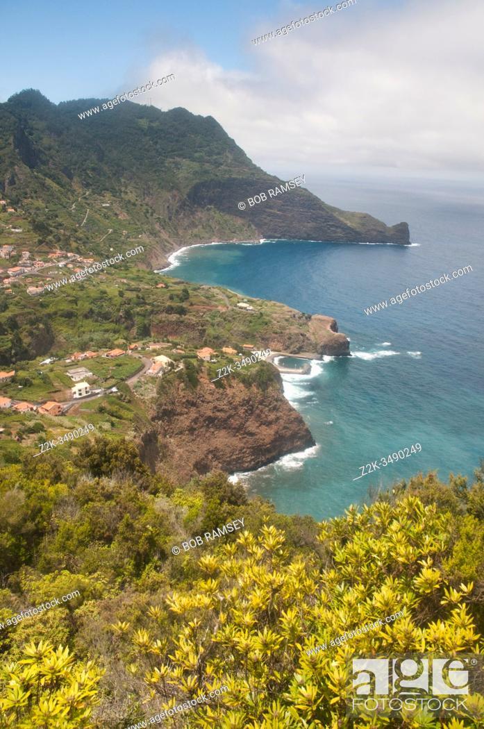 Stock Photo: Travel in Madeira coastline.