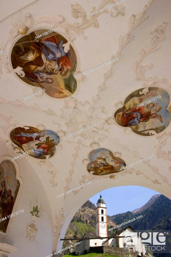 Stock Photo: Kirche von Soazza GR.
