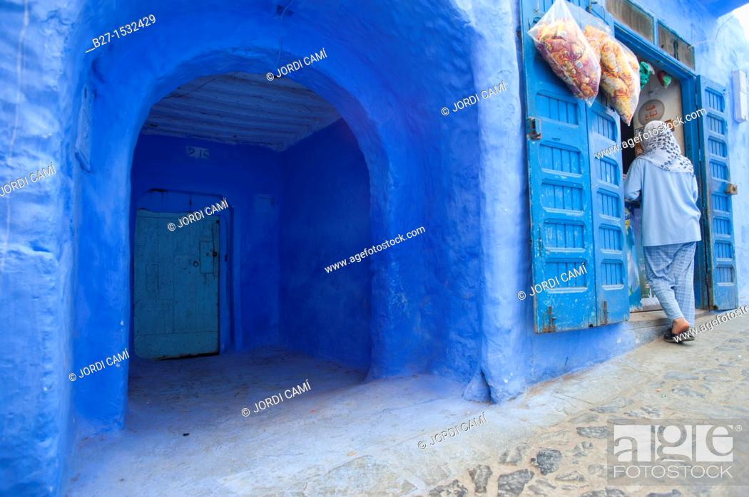 Stock Photo: Chefchaouen, Rif region  Morocco North Africa.