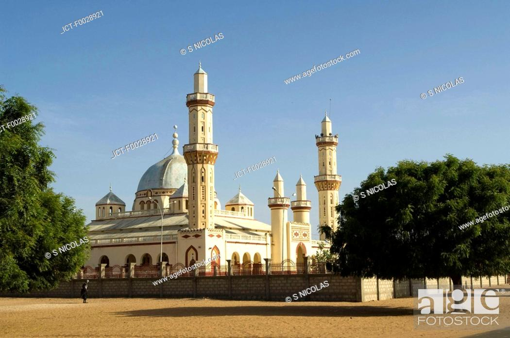 Senegal, Djourbel, mosque, Stock Photo, Picture And Royalty Free