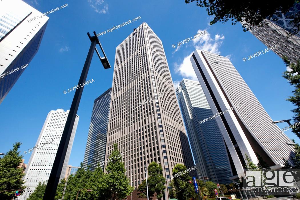 Stock Photo: Buildings, Shinjuku district, Tokyo, Japan.