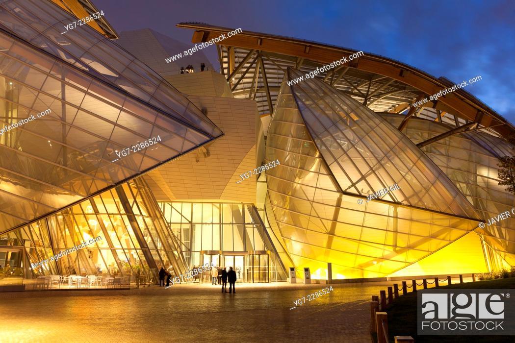 Stock Photo: Louis Vuitton foundation, Bois de Boulogne, Paris, Ile-de-France, France.