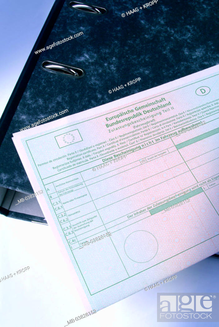 File Folders Closed Kfz Brief Detail Europe European Community