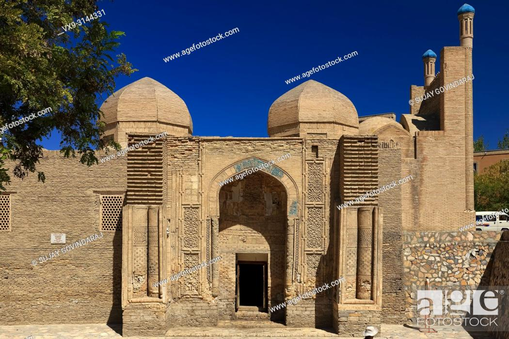 Stock Photo: Bukhara, Uzbekistan - August 27, 2016: Magoki Attori, a 16th century mosque that was built on the site of the pre-Islamic Moh temple in Bukhara.