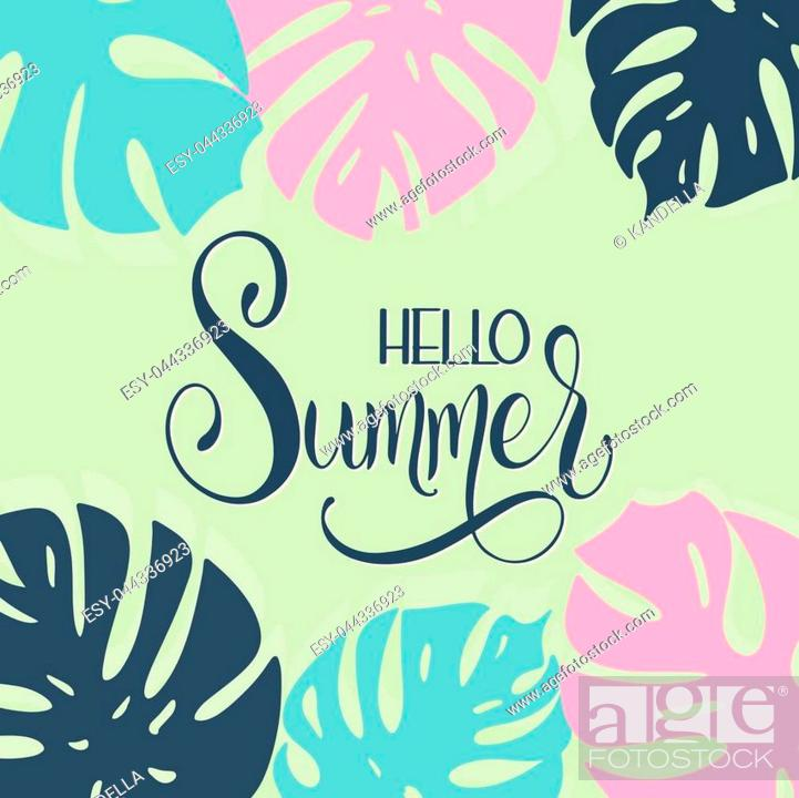 Hello Summer Lettering Elements For Invitations Posters Greeting Cards Stock Vector Vector And Low Budget Royalty Free Image Pic Esy 044336923 Agefotostock