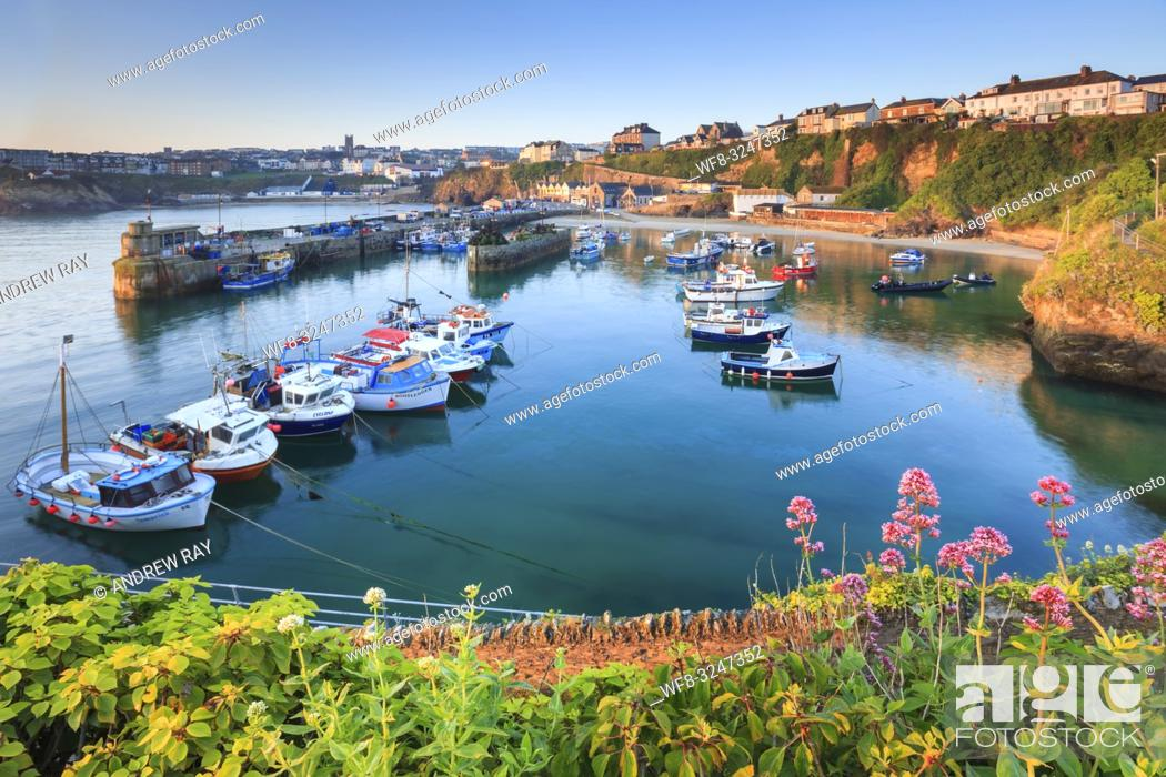 Imagen: The fishing harbour at the popular tourist resort of Newquay, on the North coast of Cornwall.