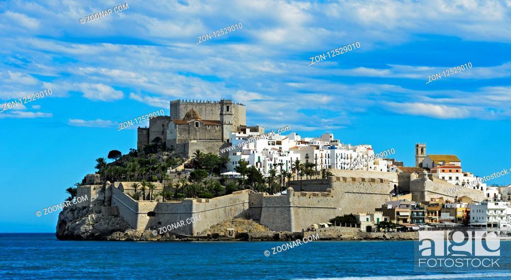 Imagen: Burg von Peniscola, Peníscola, Costa del Azahar, Provinz Castellon, Spanien / Peníscola Castle, Peníscola, Costa del Azahar, Province of Castellon, Spain.
