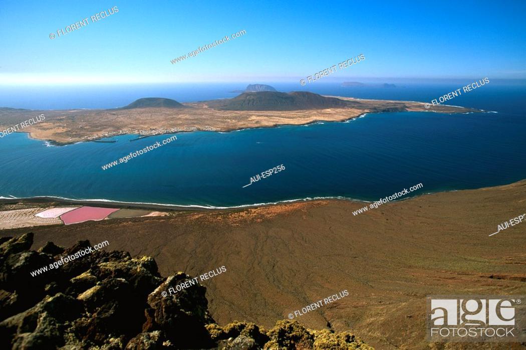 Stock Photo: Spain - Canary Islands - Lanzarote - Del Tio Mirador Manrique.