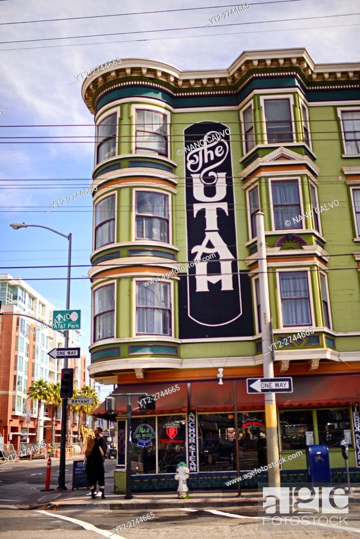Stock Photo: The Hotel Utah Saloon, intimate, circa-1908 bar & music venue offering indie live acts. San Francisco, United States.