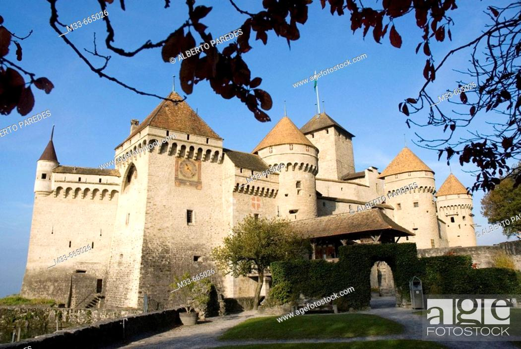 Stock Photo: Chillon Castle in Montreux. Switzerland. .