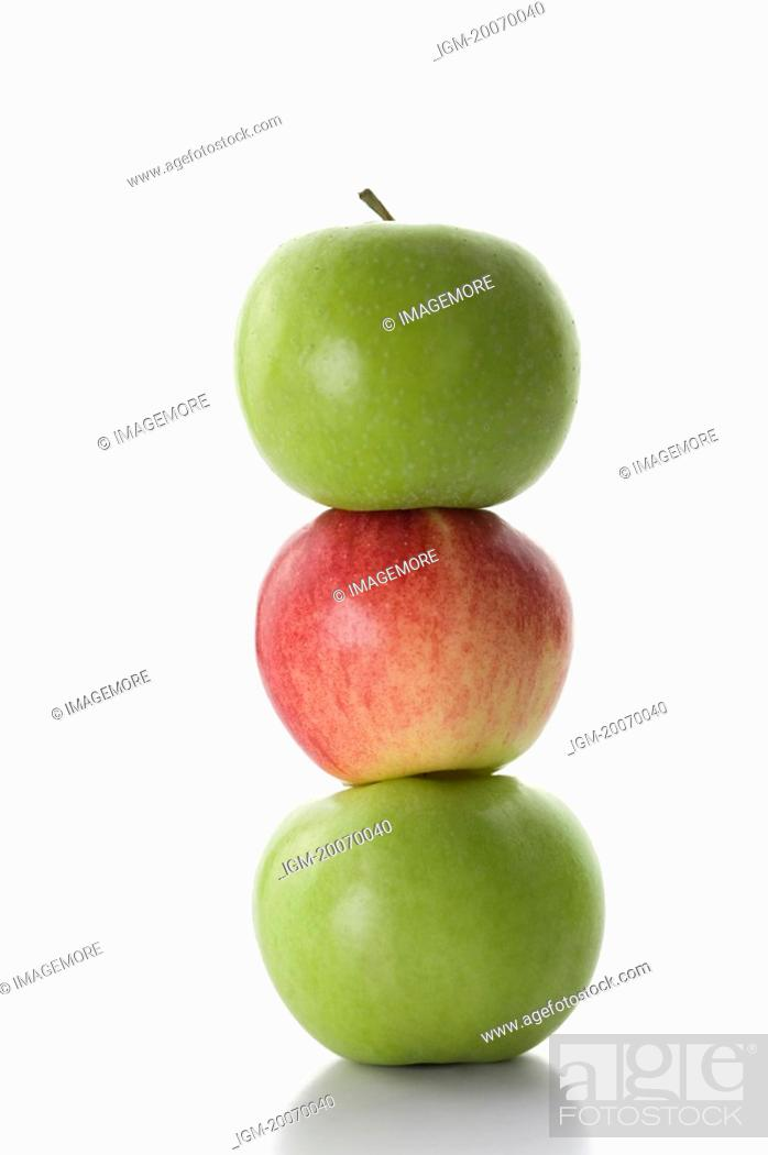 Stock Photo: Apples in a stack.