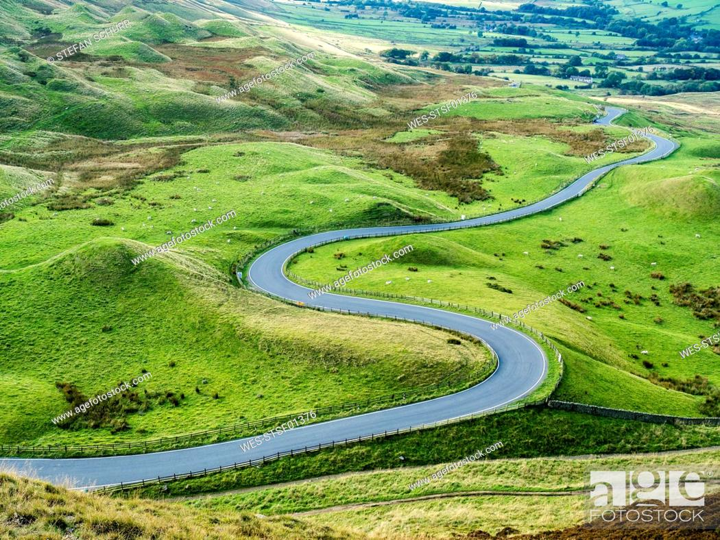 Stock Photo: Great Britain, England, Derbyshire, Peak District, Castleton, Mam Tor.