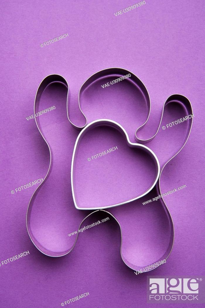 Stock Photo: Celebration Event, Close-Up, Colored Background, Heart Shape, Indoors.
