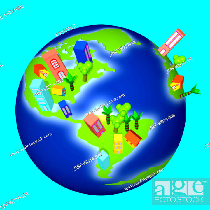 Stock Photo: Illustration, earth, world.