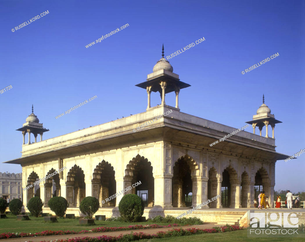 Stock Photo: Hall Of Private Audience, Red Fort, New Delhi, India.