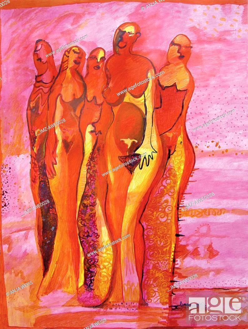 Stock Photo: group of women.