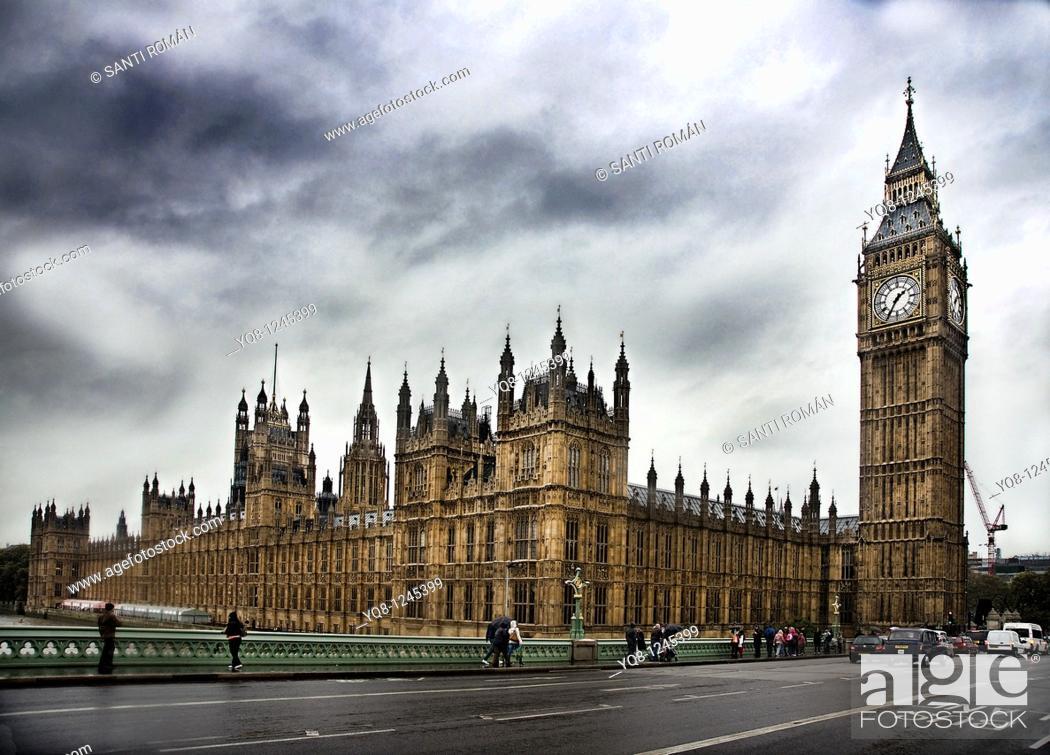 Stock Photo: Big Ben,London,England,United kingdom, Europe.