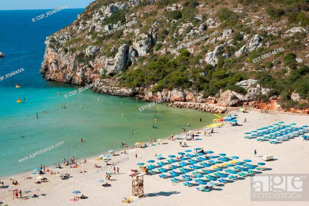 Stock Photo: Cala en Porter beach.