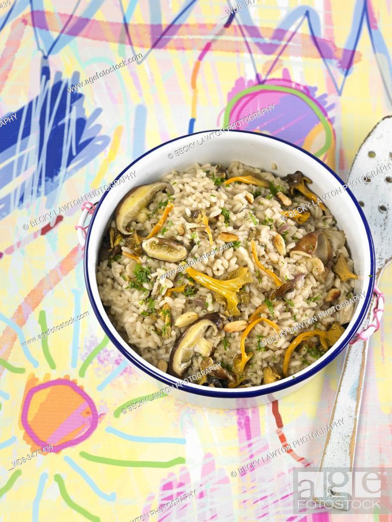 Stock Photo: risotto de setas / Mushroom Risotto.