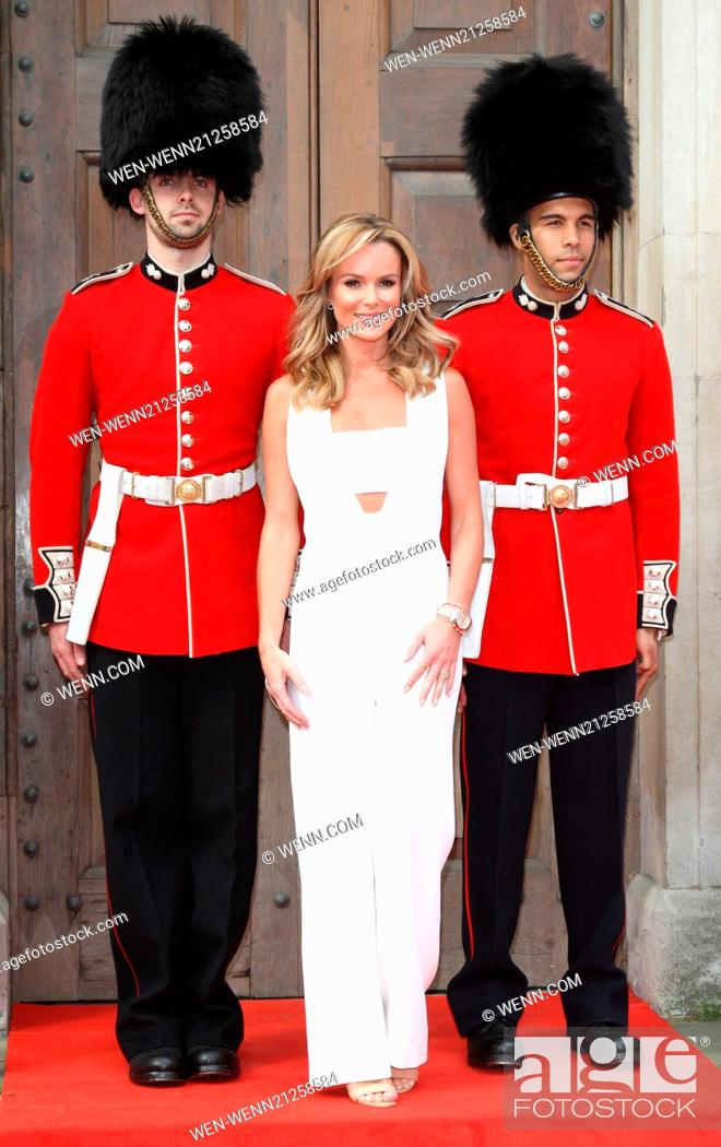 Stock Photo: Britain's Got Talent Press Launch at St Luke's Church, Old Street, London Featuring: Amanda Holden Where: London, United Kingdom When: 09 Apr 2014 Credit: WENN.