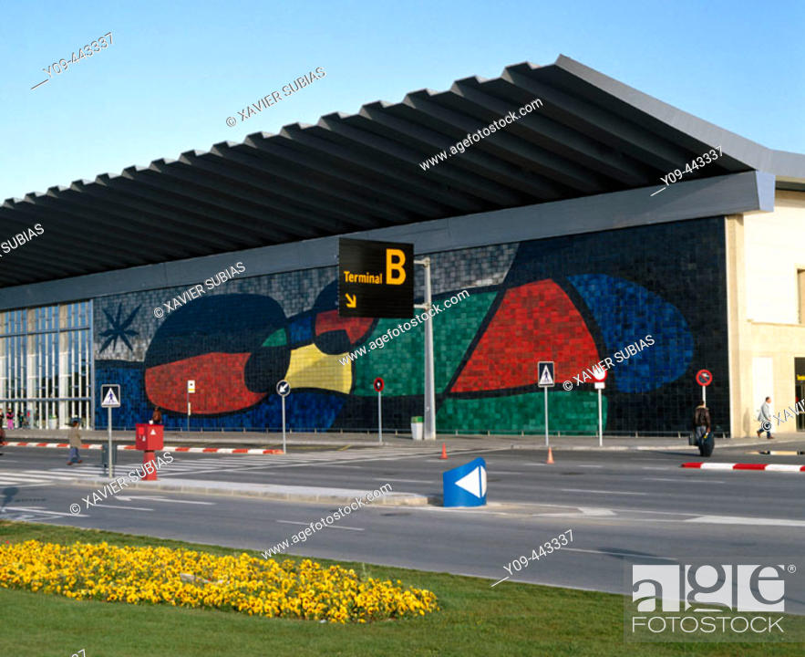 6f5cd76071a Stock Photo - Joan Miro s ceramic mural. El Prat Barcelona International  Airport
