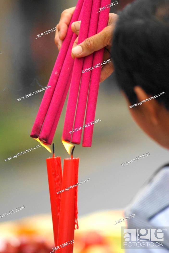 Stock Photo: Chinese Festival, Siniawan, Malaysia.