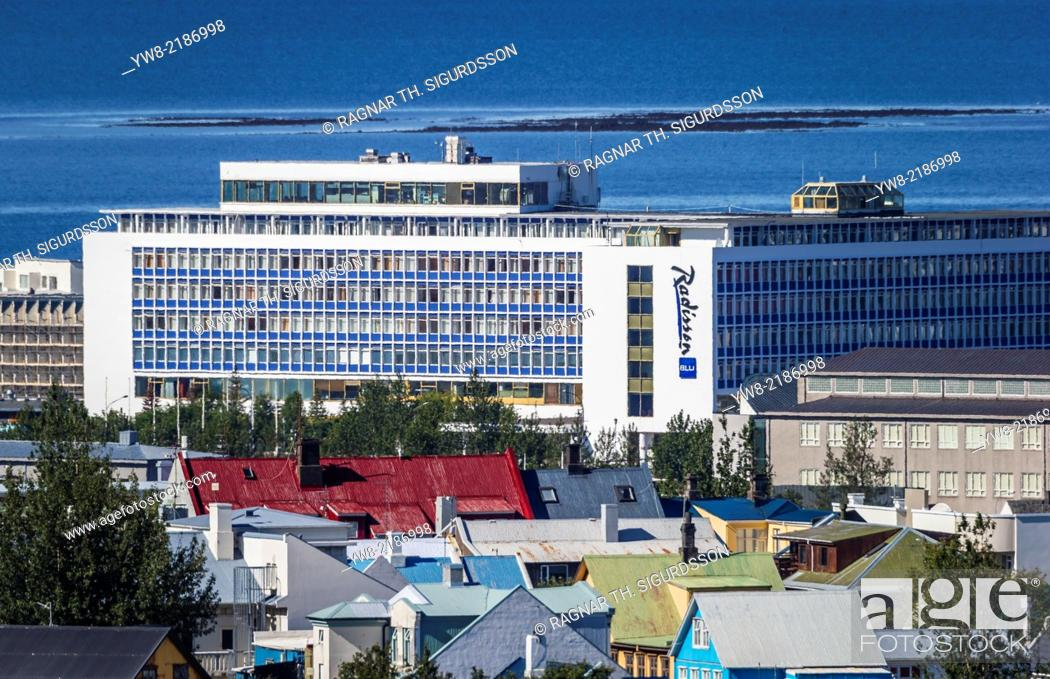 Stock Photo: Radisson Hotel in Reykjavik, Iceland.