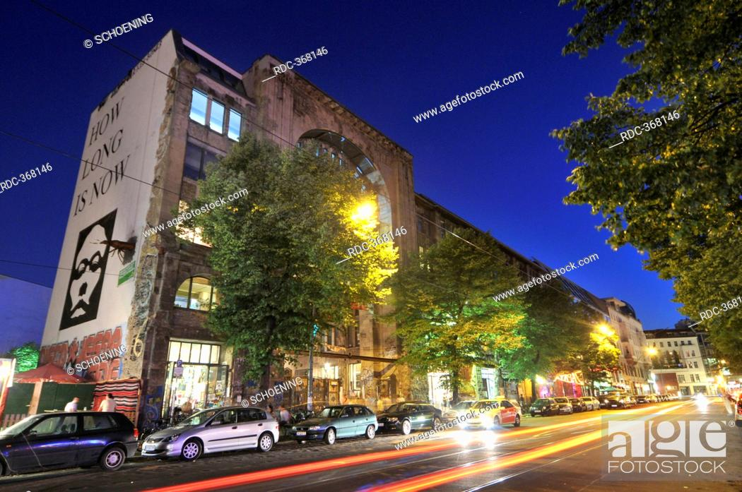 Stock Photo: Kunsthaus Tacheles, arts house, center of arts and events, Oranienburger Strasse, Mitte, Berlin, Germany.