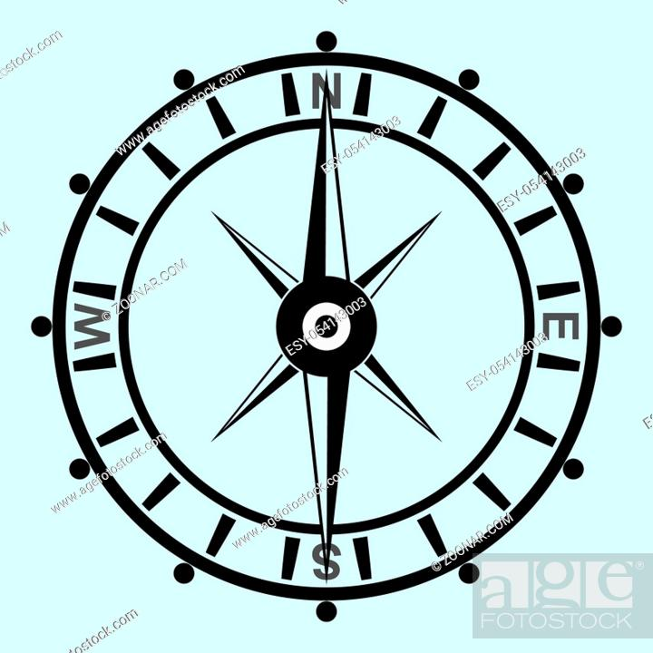 Stock Photo: Hipster style compass vector illustration, using as business or nautical concept icon.
