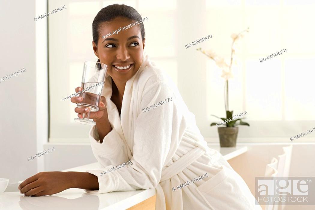 Stock Photo: Woman at health spa.