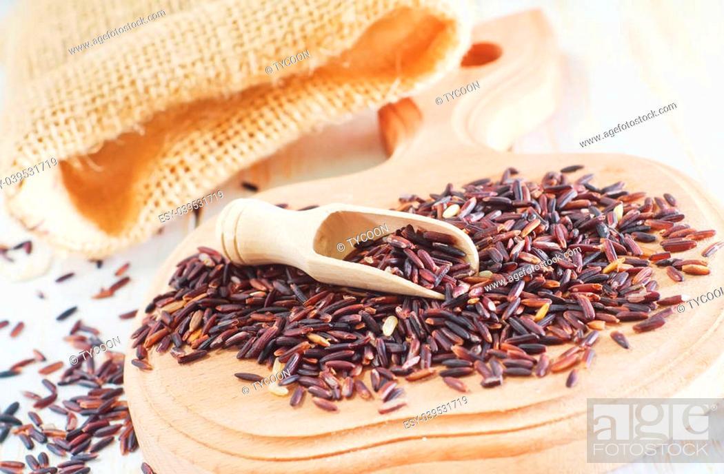 Photo de stock: brown rice.
