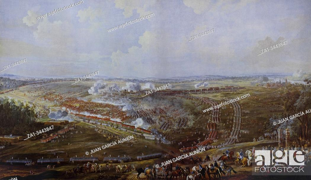 Imagen: Battle Of Fontenoy 1745 painted by Louis Nicolas Van Blarenberghe. French Forces Against The Anglo-Dutch-Hanoverian Pragmatic Army.