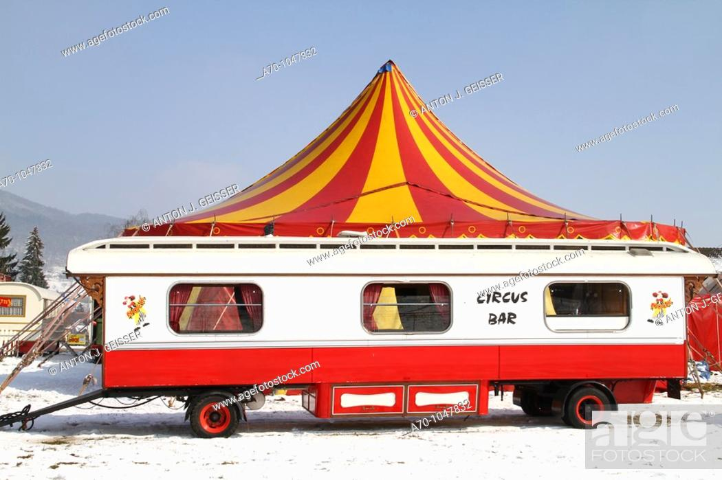 Stock Photo: Season star for the Circus Nock, second-largest Swiss circus.