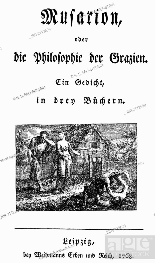 Historic Print 1768 Title Page Of Musarion By Christoph