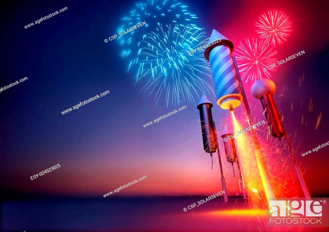 Stock Photo: Firework Rockets.