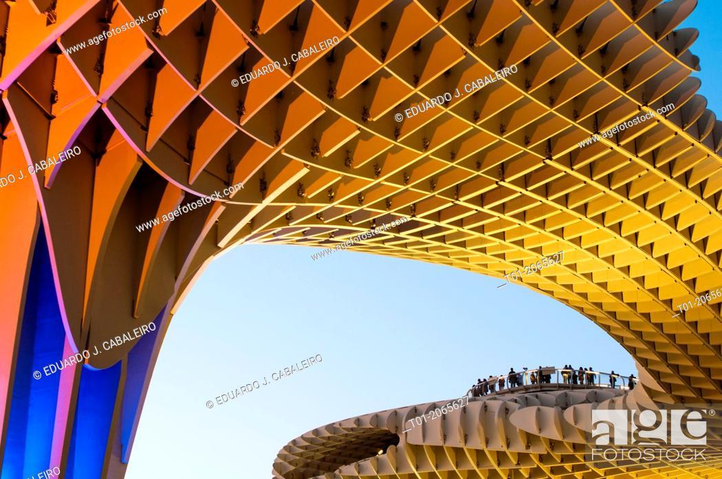 Imagen: Setas. Metropol Parasol of Encarnacion. Seville. Andalucia. Spain.