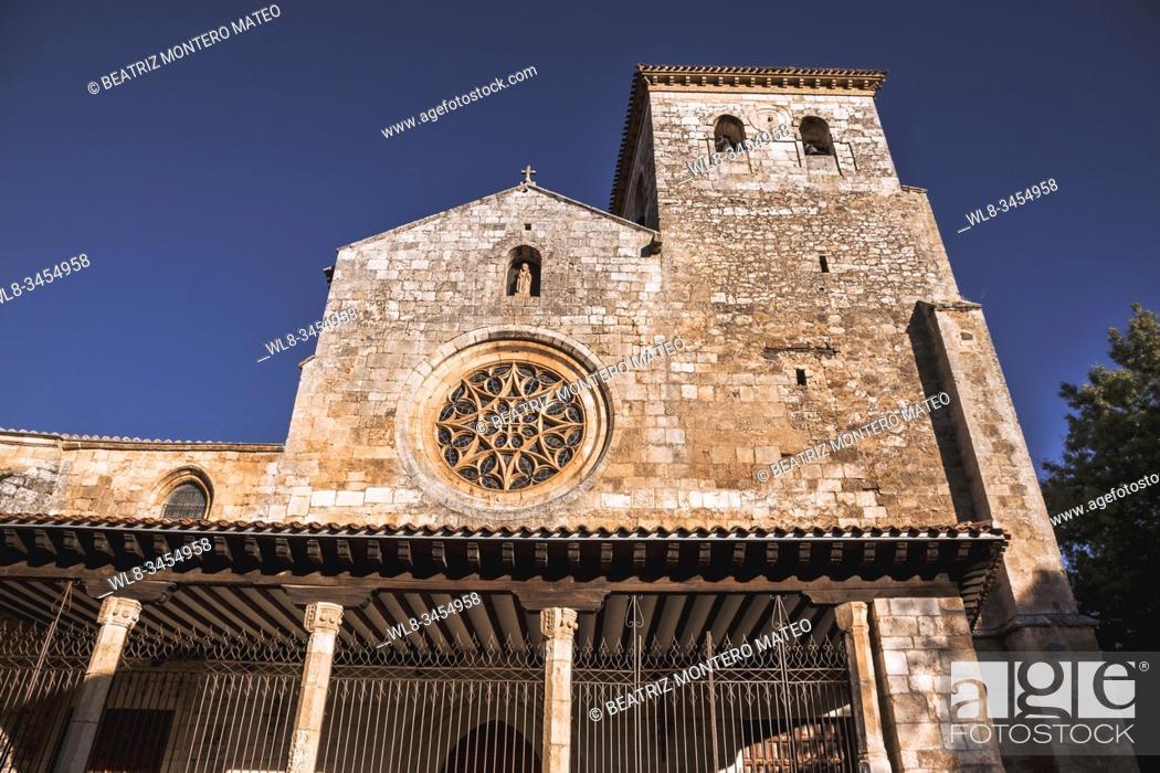 Stock Photo: Collegiate Church of San Cosme and San Damián in Covarrubias, Burgos (Spain).