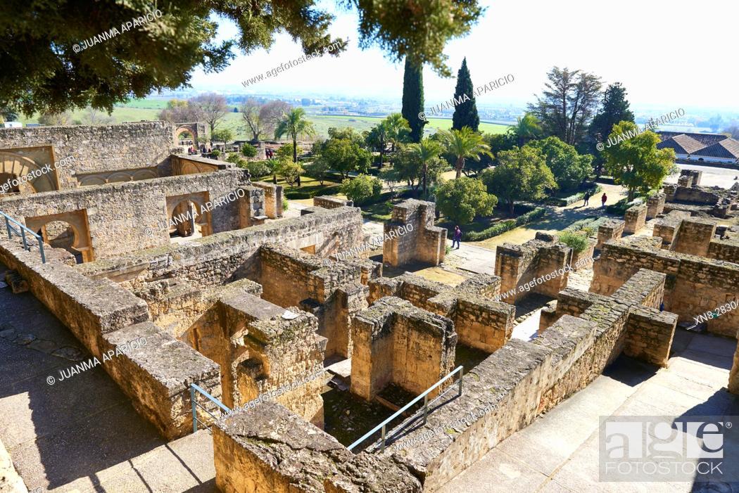 Stock Photo: Medina Azahara (Medinat al-Zahra)(Abderramán III (Abd al-Rahman III, al-Nasir)), residence of the andalusian Calif, Province Cordoba, Andalucia, Spain, Europe.