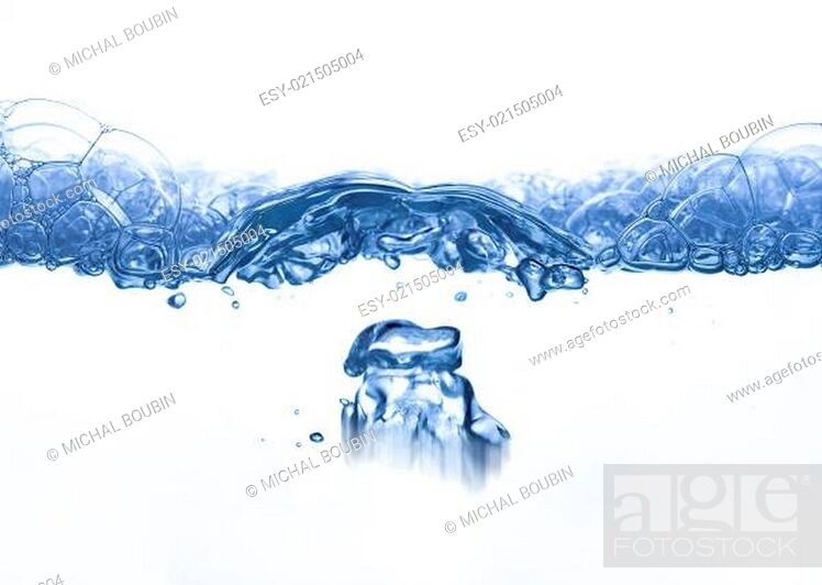 Stock Photo: waves and bubbles - rippling surface.