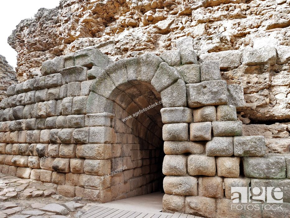Stock Photo: Access gate to the Roman Theatre. Mérida. Badajoz. Extremadura. Spain.