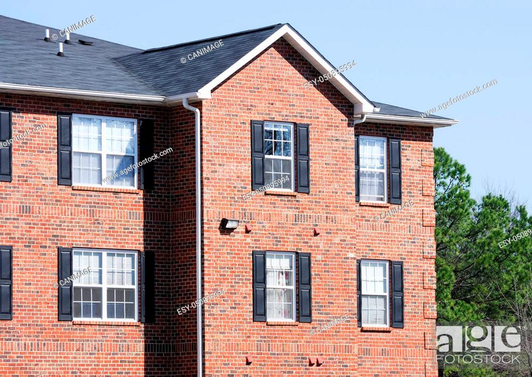 Stock Photo: close up on apartment building.