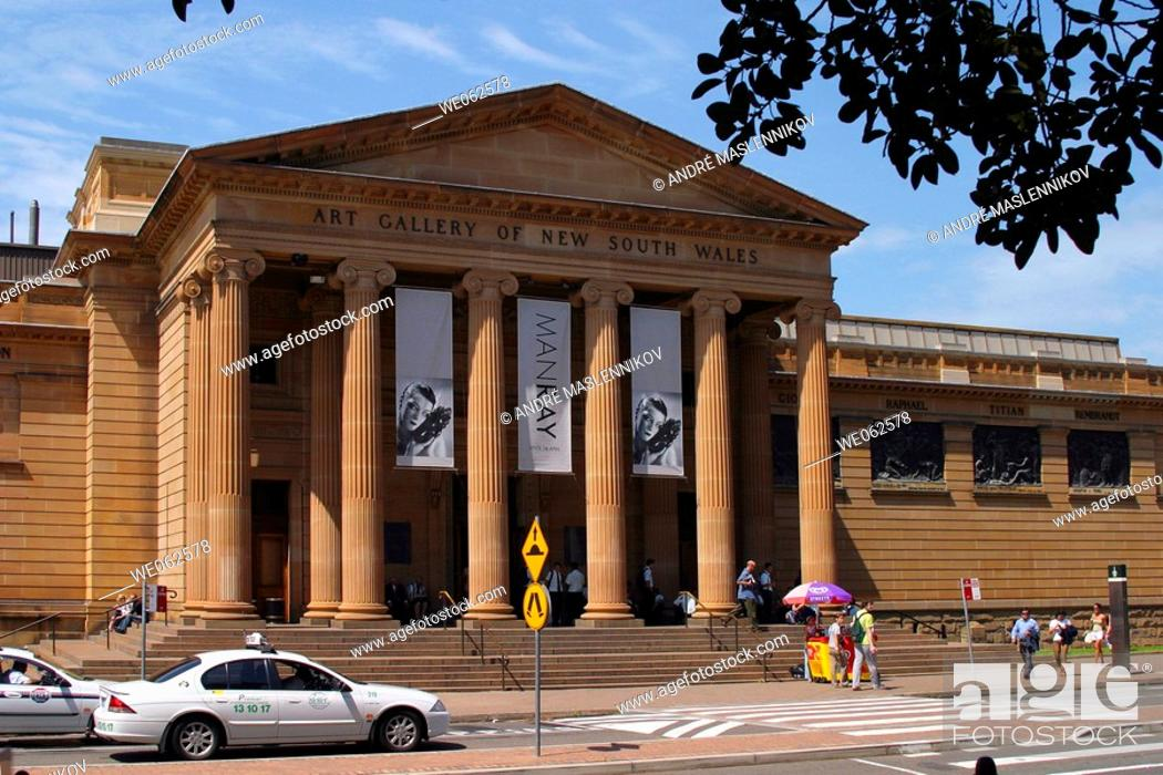 Stock Photo: Man Ray exhibition on the Art Gallery of New South Wales in Sydney. Australia.