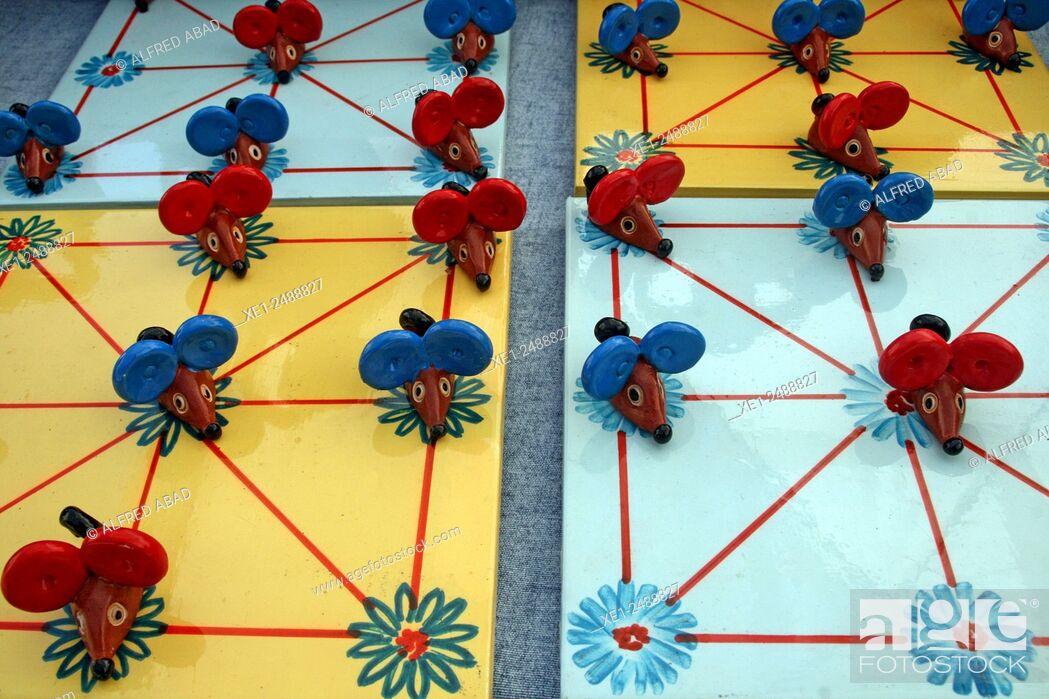 Stock Photo: Ceramic board game.