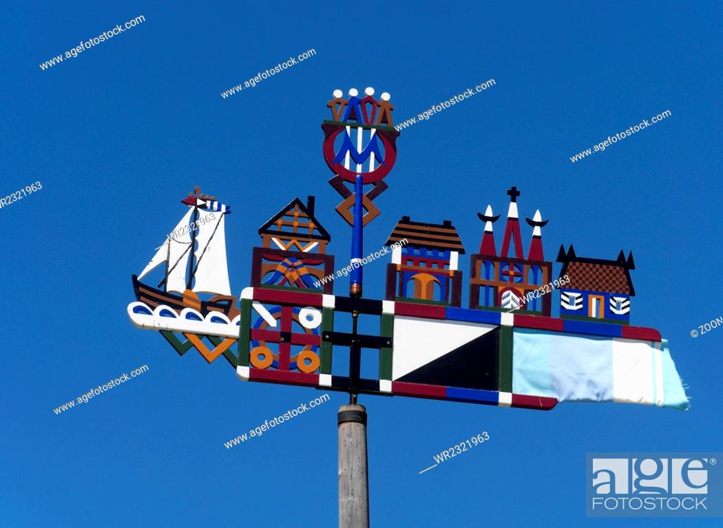 Stock Photo: Weather vane at the Curonian Spit, Lithuania.